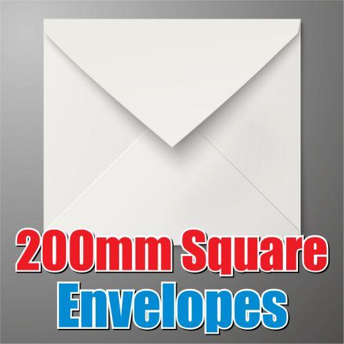 200mm Square White Envelope
