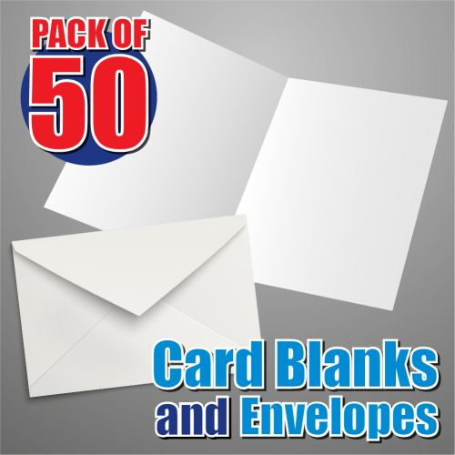 50 135mm Square Card Blanks and Envelopes