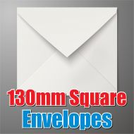 130mm Square White Envelope