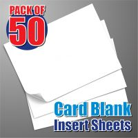 50 5x7 Card Blank Insert Sheets
