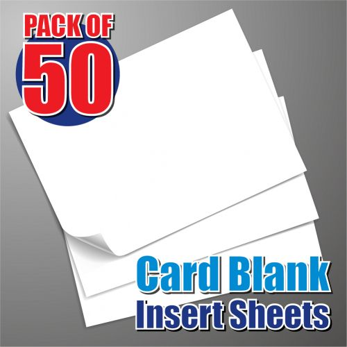 50 135mm Square Card Blank Insert Sheets